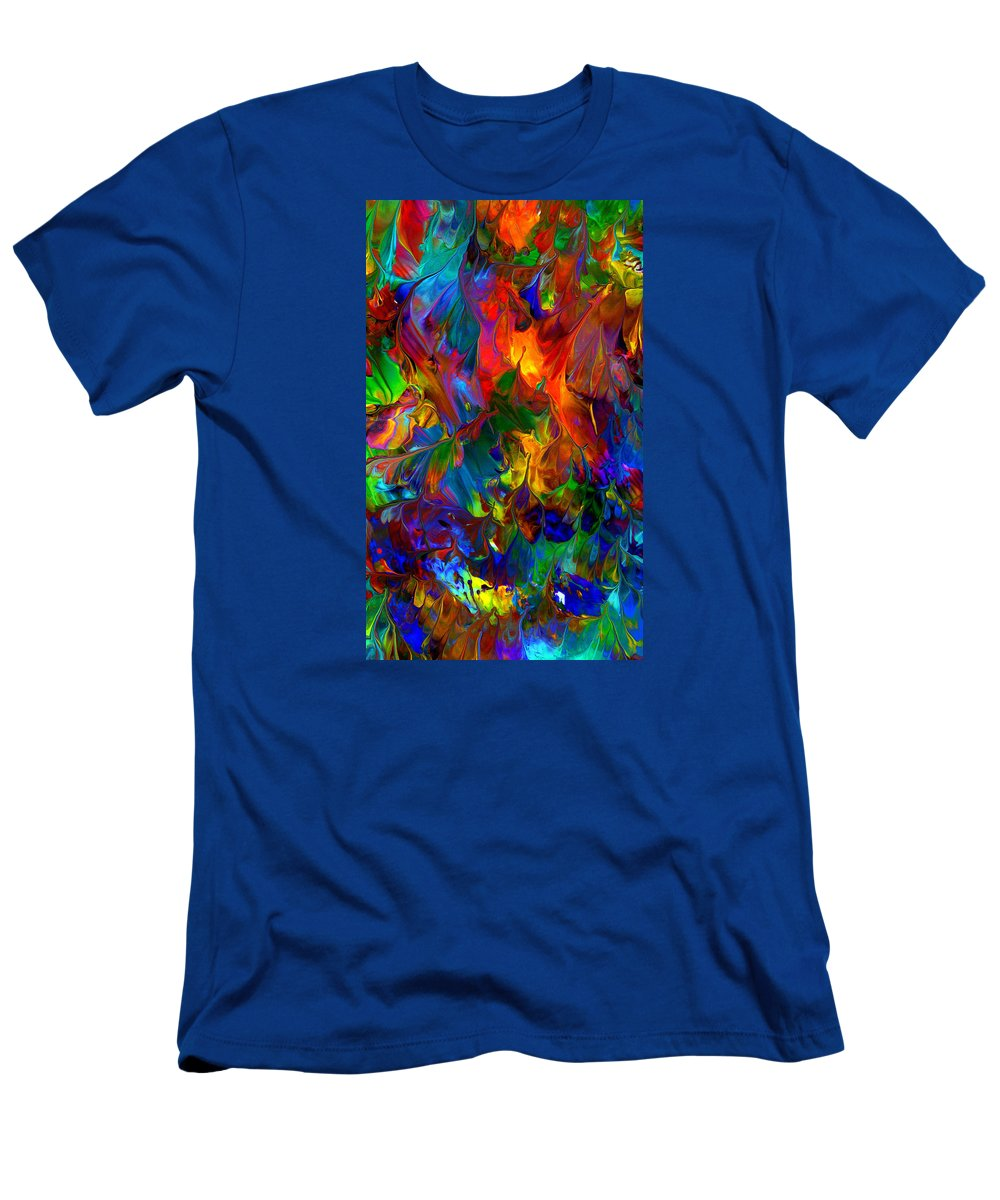 Abstract Art Print Men's T-Shirt (Athletic Fit) featuring the painting Cc193 by John Kohn