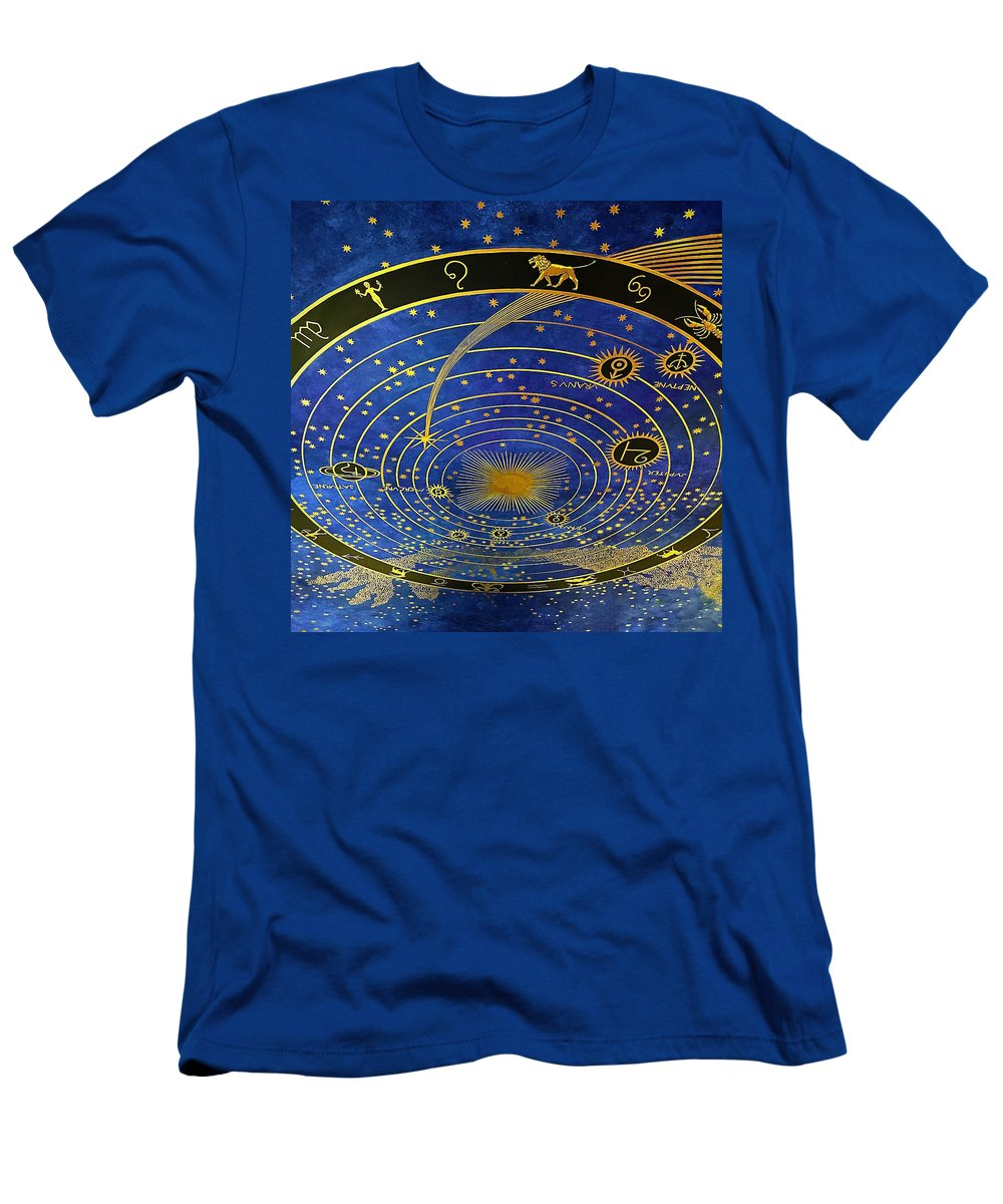 Ceiling Men's T-Shirt (Athletic Fit) featuring the photograph Ceiling by Michael Krugman