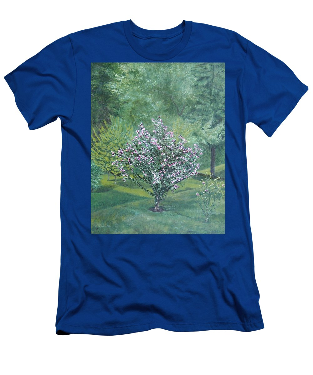 Blooming T-Shirt featuring the painting Charles Street by Leah Tomaino