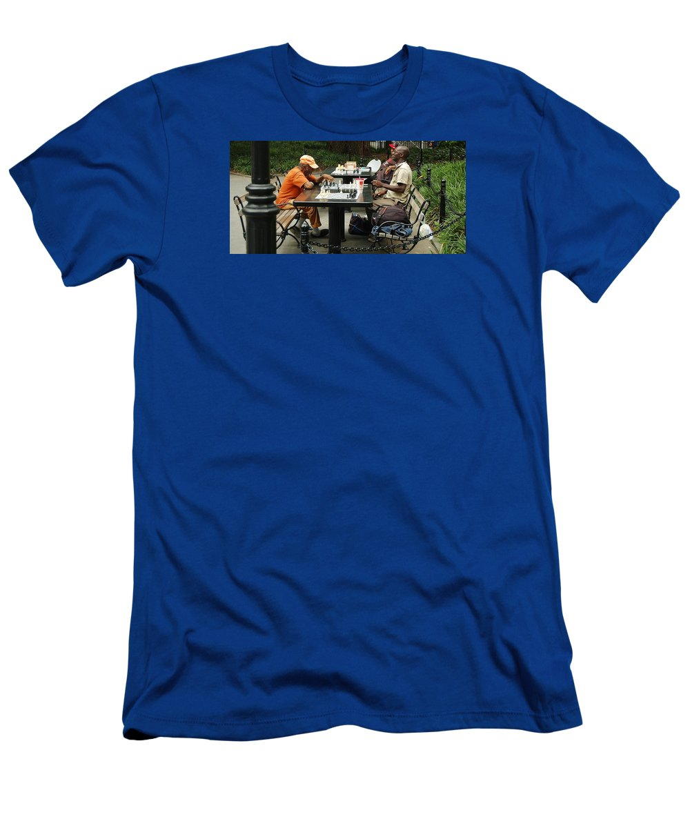 Washington Square Park Men's T-Shirt (Athletic Fit) featuring the photograph Check Mate by Christopher James