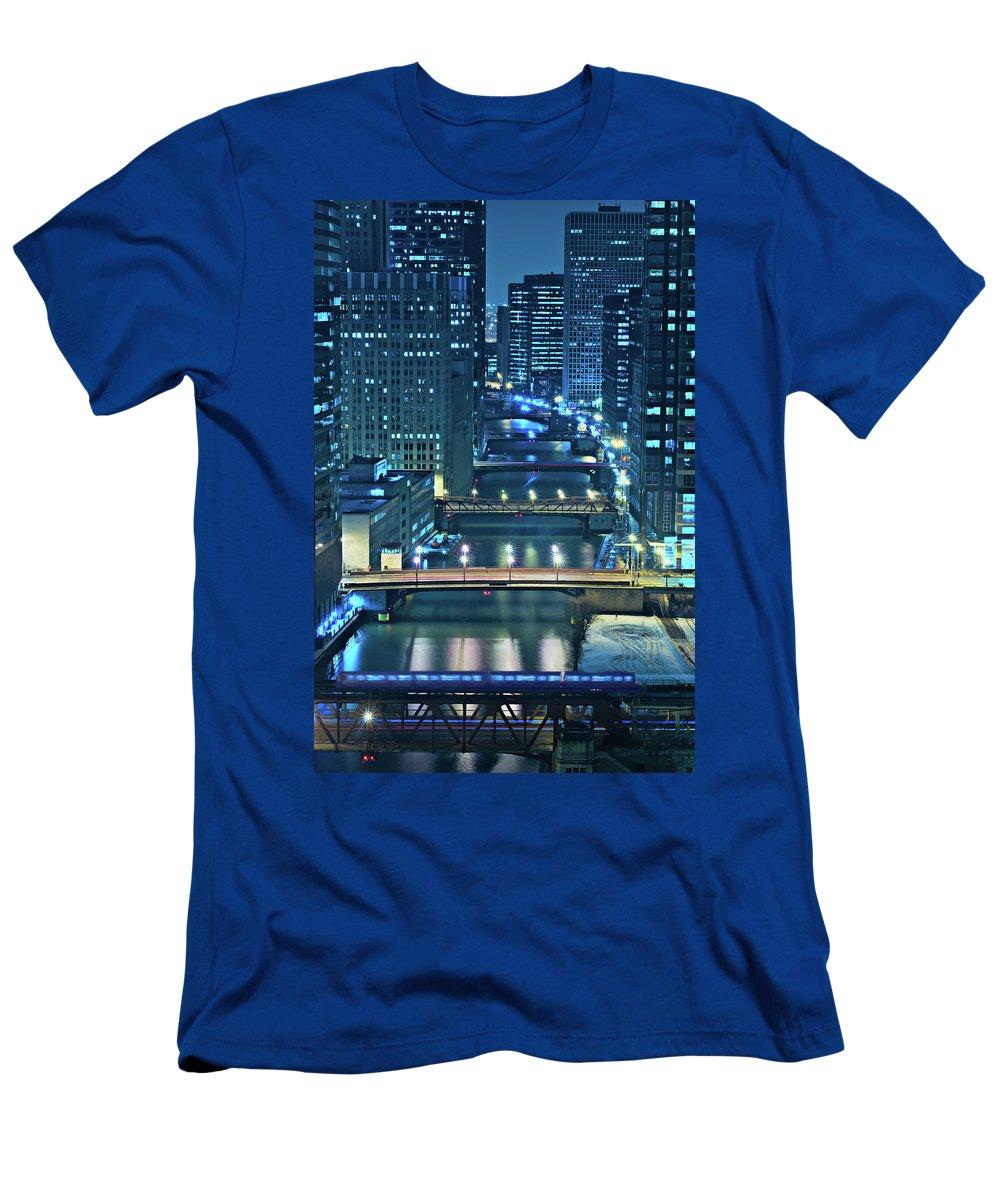Chicago T-Shirt featuring the photograph Chicago Bridges by Steve Gadomski
