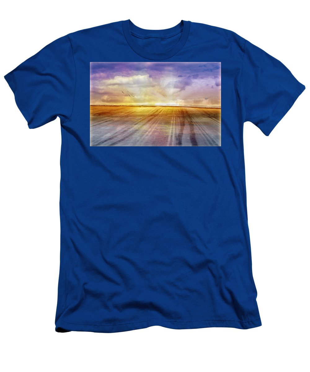 Landscapes Men's T-Shirt (Athletic Fit) featuring the photograph Choices by Holly Kempe