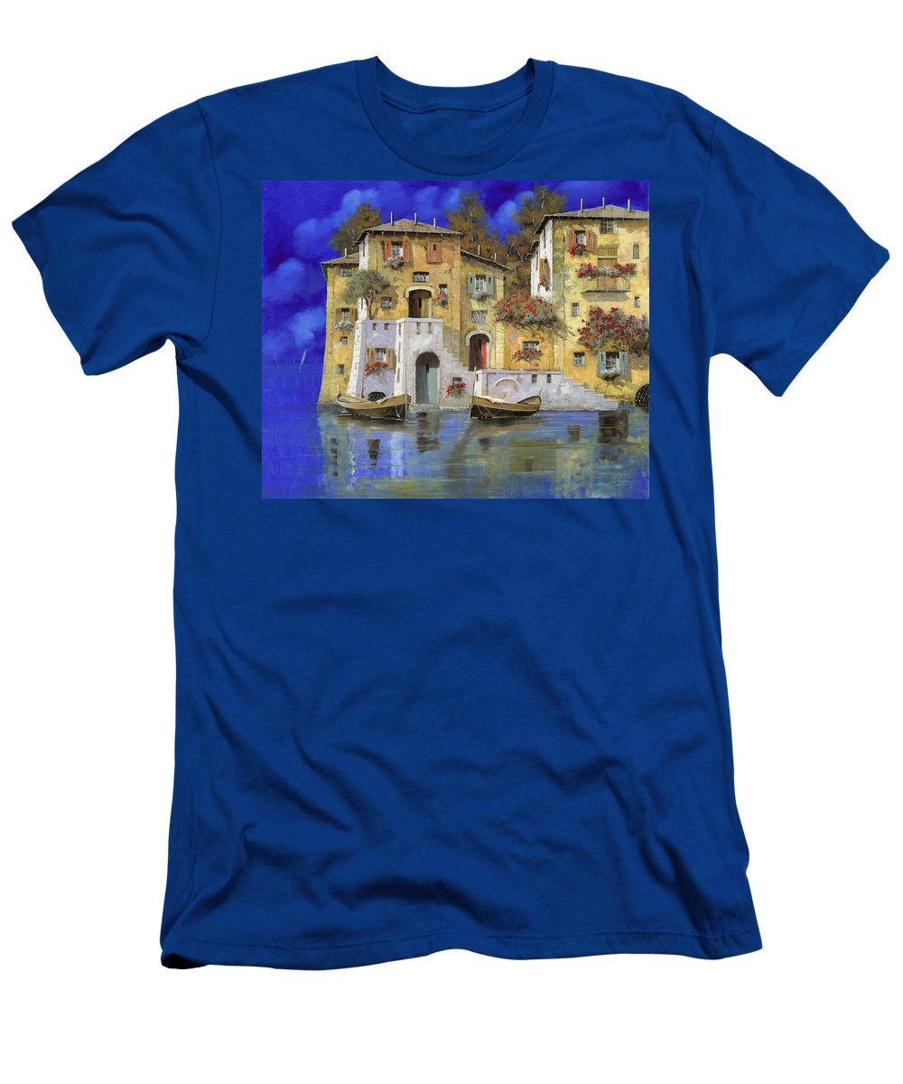 Landscape Men's T-Shirt (Athletic Fit) featuring the painting Cieloblu by Guido Borelli