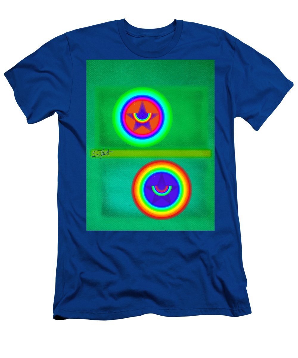 Balance Men's T-Shirt (Athletic Fit) featuring the painting Circus Costume by Charles Stuart