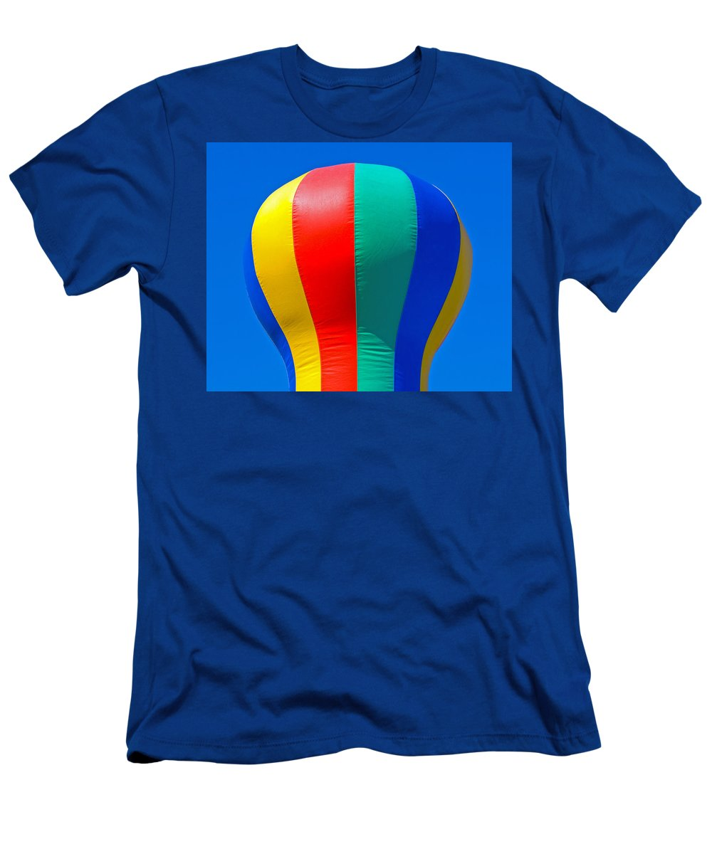 Red; Green; Yellow; Blue; Pillow; Sky; Circus; Carnival; Country; Fair; Ball; Balloon; Colors; Color Men's T-Shirt (Athletic Fit) featuring the photograph Circus In The Sky - Two by Allan Hughes