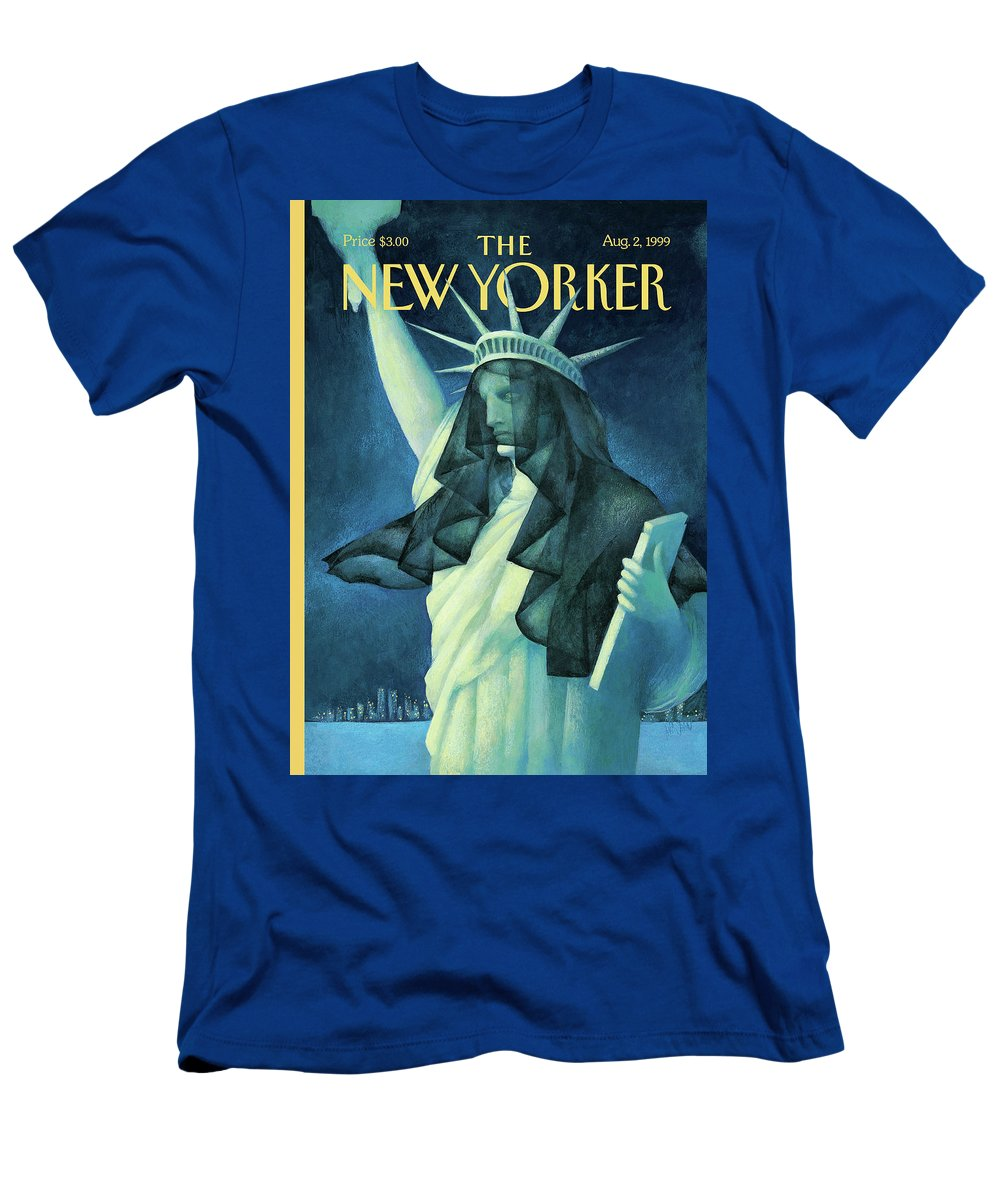 City In Mourning T-Shirt featuring the painting City In Mourning by Ana Juan