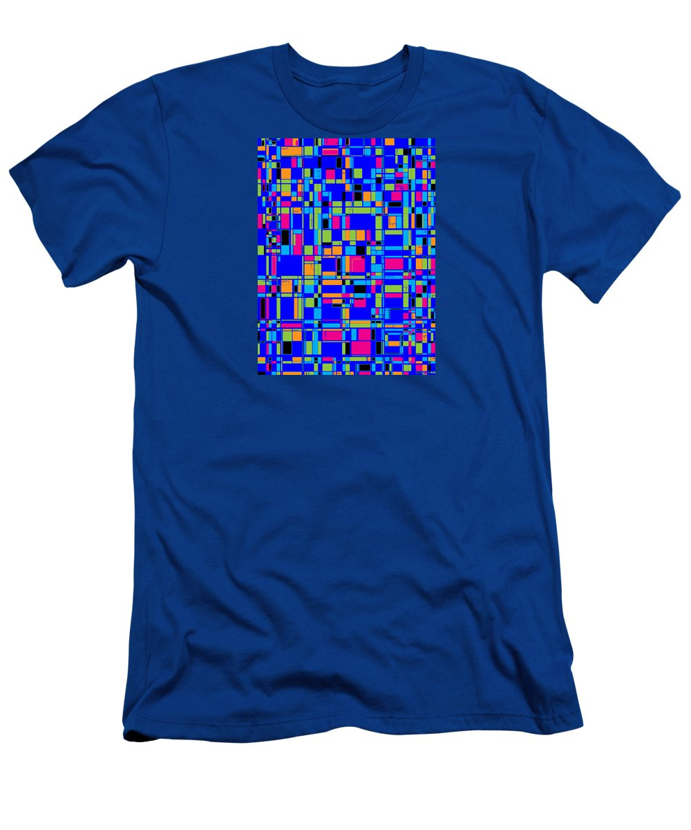 Joy Mckenzie Men's T-Shirt (Athletic Fit) featuring the digital art City Life Series No. 4 by Joy McKenzie