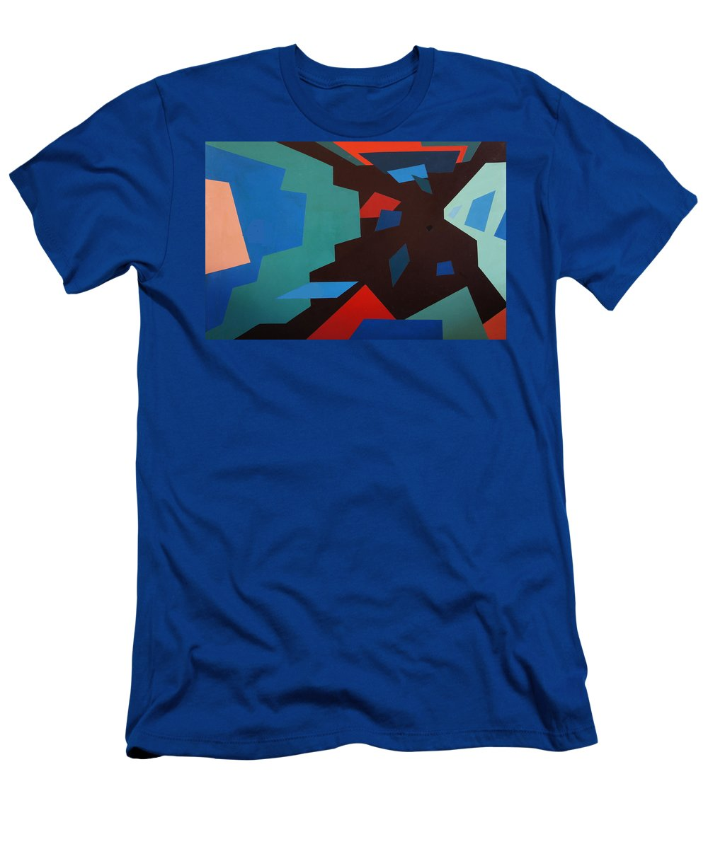 Australian Artist Men's T-Shirt (Athletic Fit) featuring the painting City Sky 1.0 by Giro Tavitian