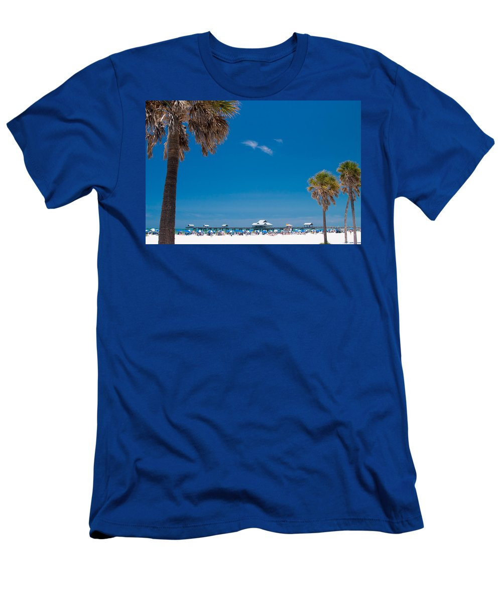 3scape Photos Men's T-Shirt (Athletic Fit) featuring the photograph Clearwater Beach by Adam Romanowicz