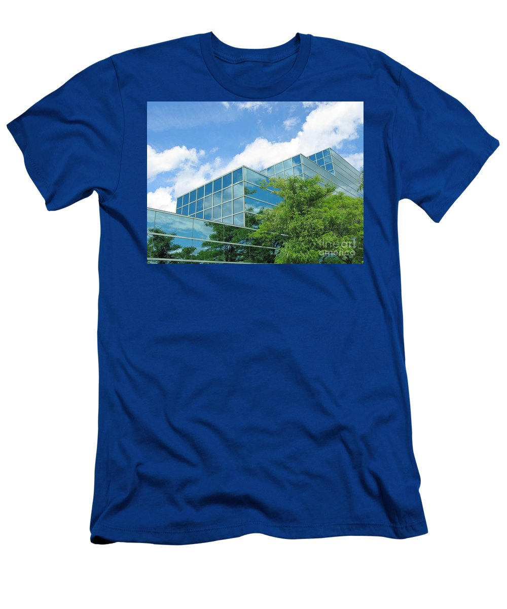Architecture Men's T-Shirt (Athletic Fit) featuring the photograph Climbing Skyward by Ann Horn