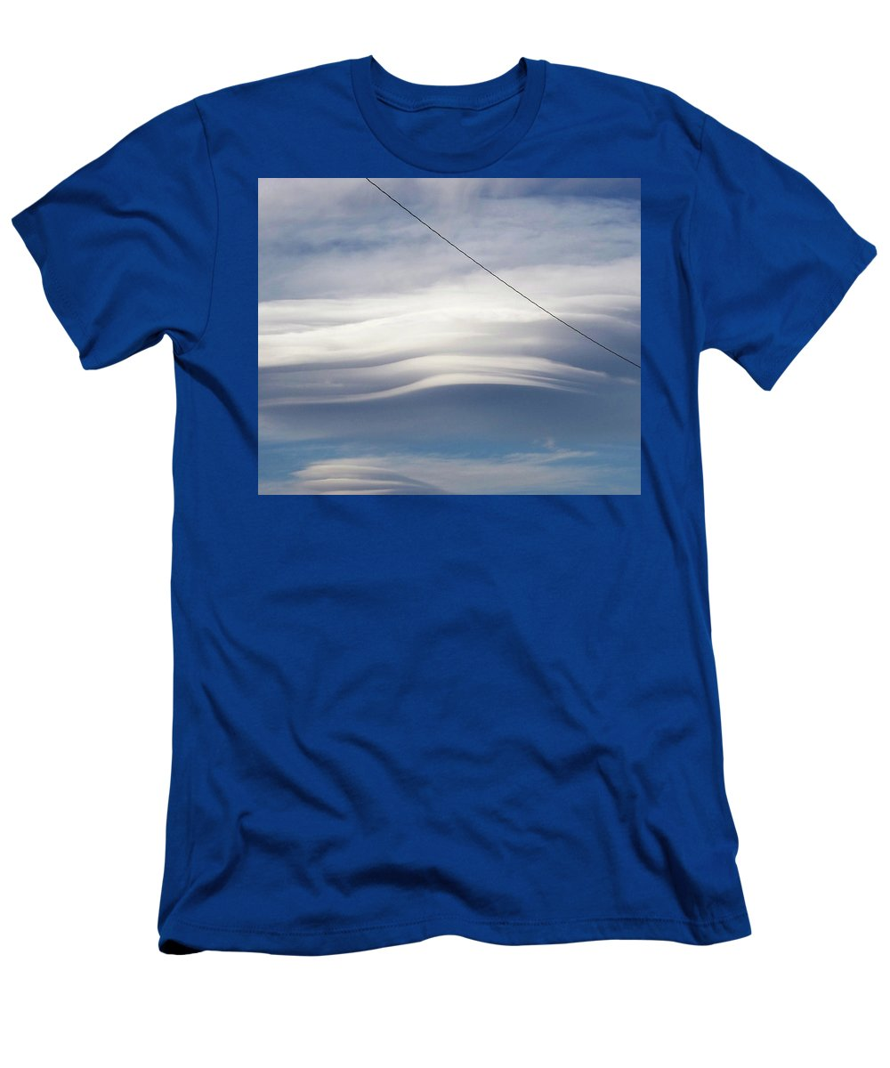 Strange Clouds Men's T-Shirt (Athletic Fit) featuring the photograph Cloud 17 by Kit Kay