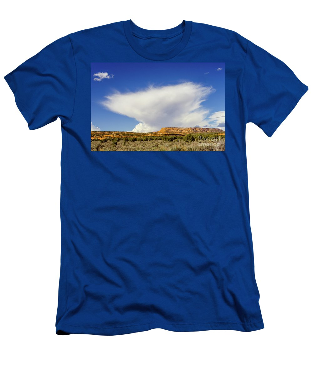 Angel Canyon Men's T-Shirt (Athletic Fit) featuring the photograph Cloud Burst by Jerry Sellers
