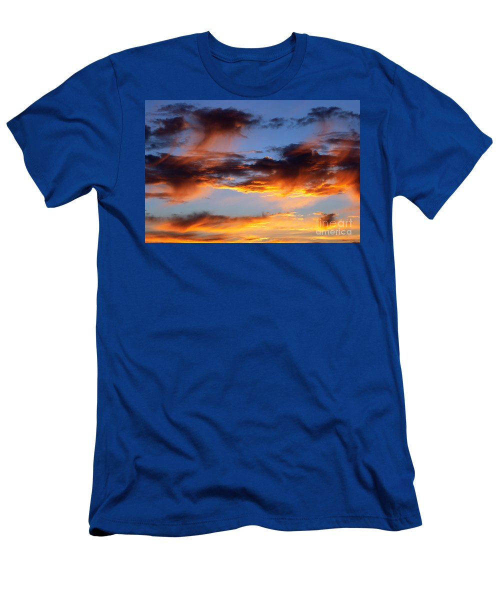 Sunset Men's T-Shirt (Athletic Fit) featuring the photograph Clouds by Michal Boubin