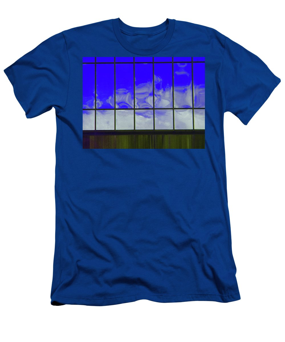 Abstract Men's T-Shirt (Athletic Fit) featuring the photograph Clouds Reflected by Lenore Senior