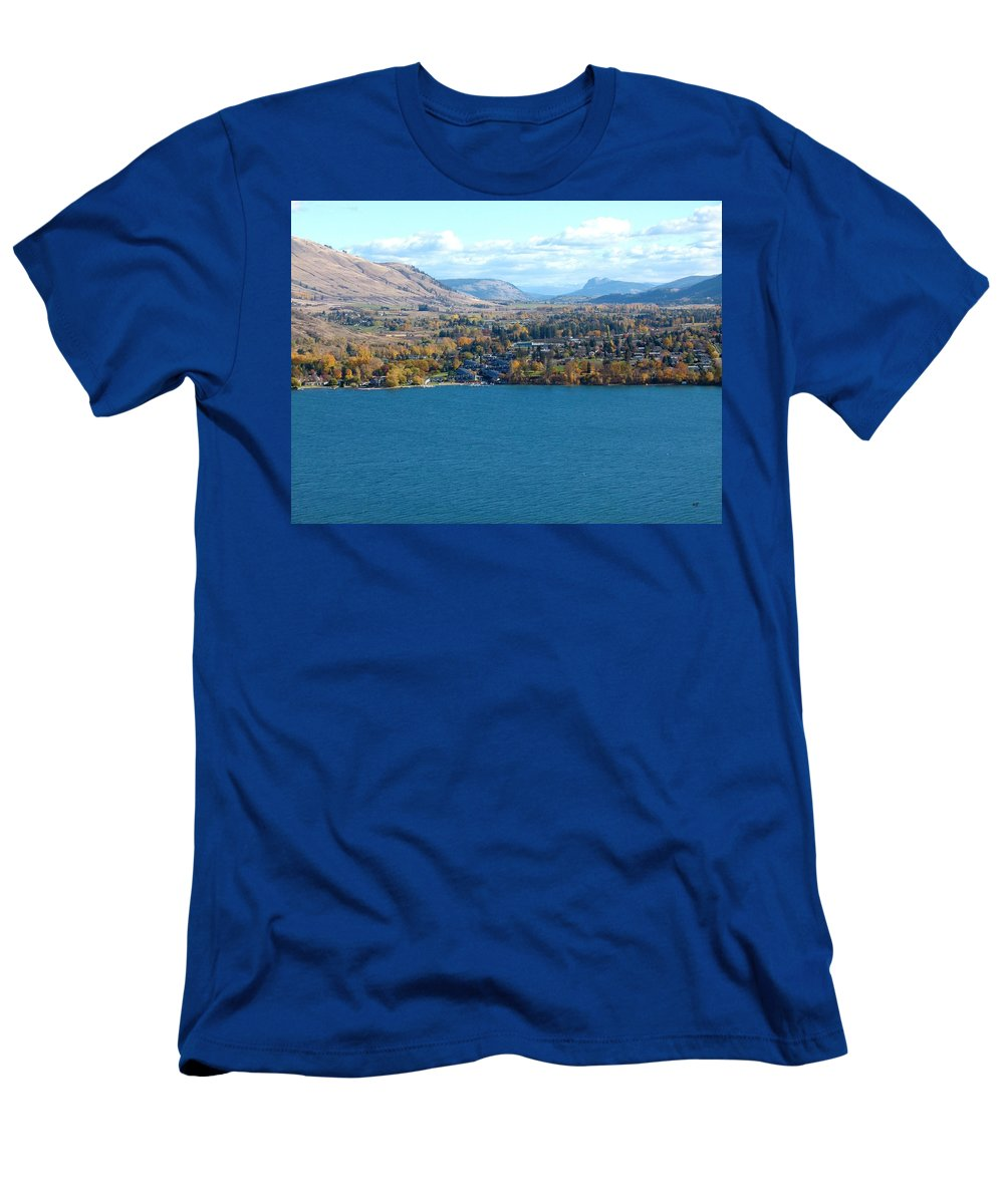 Autumn Men's T-Shirt (Athletic Fit) featuring the photograph Coldstream Valley In Autumn by Will Borden