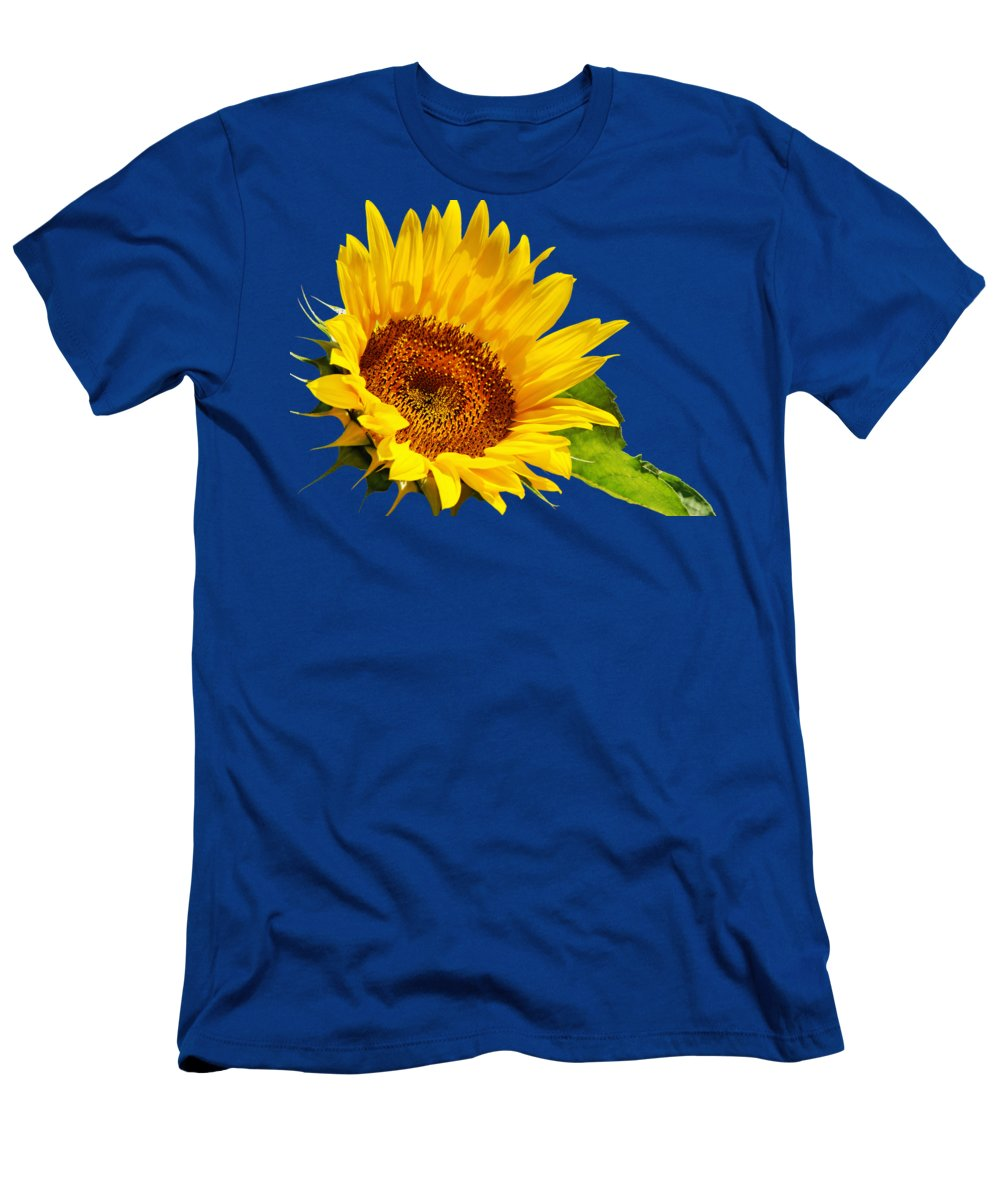Sunflower Men's T-Shirt (Athletic Fit) featuring the photograph Color Me Happy Sunflower by Christina Rollo
