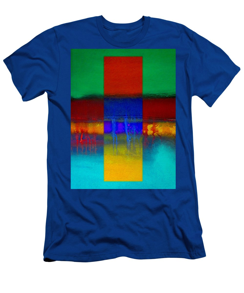 Landscape Men's T-Shirt (Athletic Fit) featuring the painting Color State by Charles Stuart