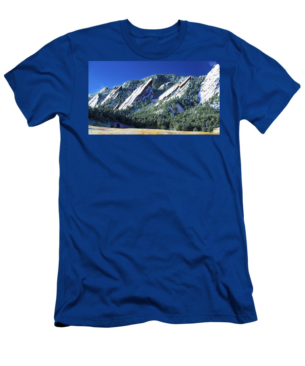 Colorado T-Shirt featuring the photograph All Five Colorado Flatirons by Marilyn Hunt