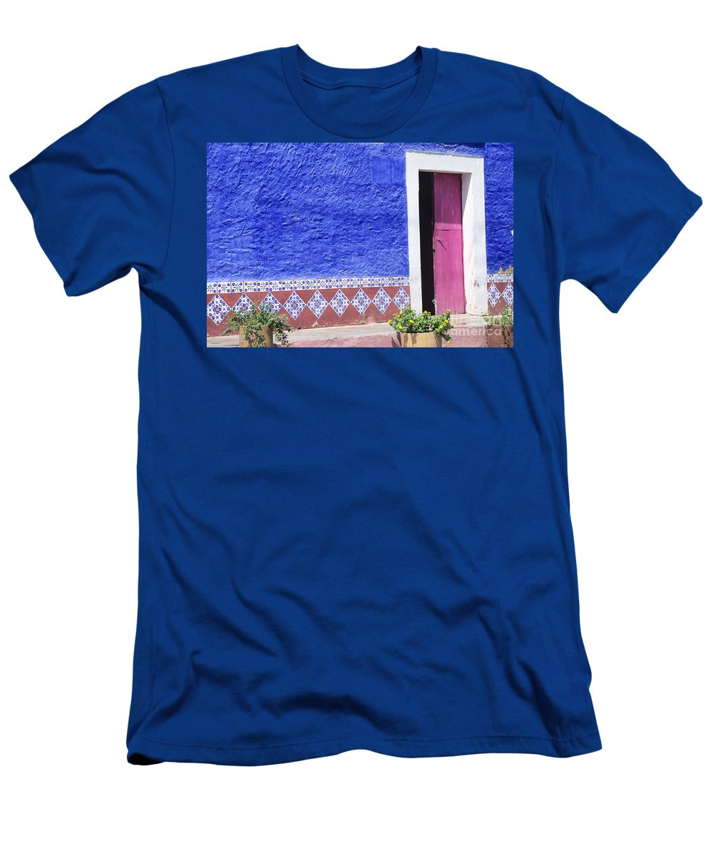 Architecture Men's T-Shirt (Athletic Fit) featuring the photograph Colorful Mexico by Peter French - Printscapes