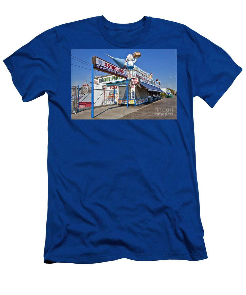 Astroland Men's T-Shirt (Athletic Fit) featuring the photograph Coney Island Memories 11 by Madeline Ellis