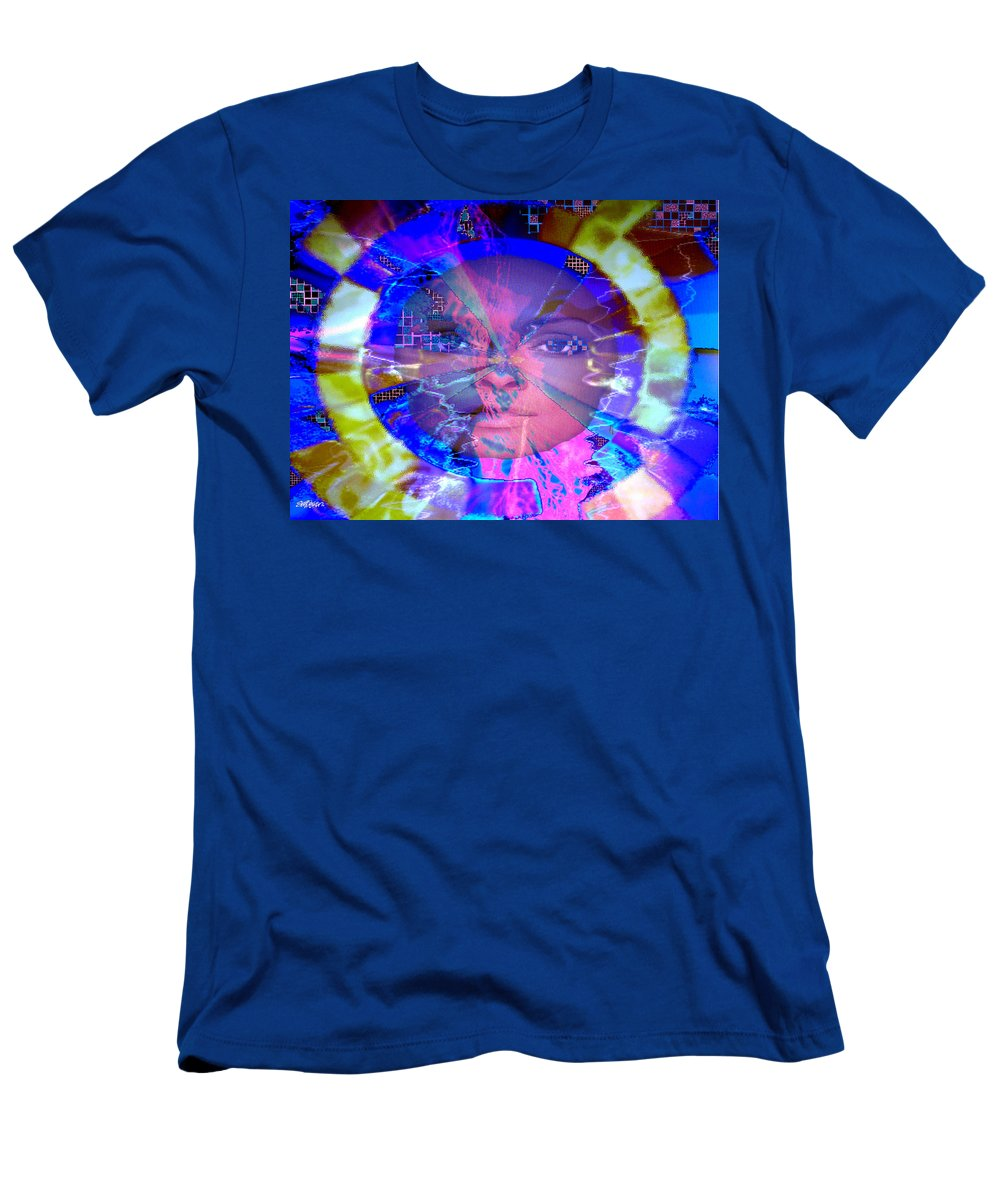 Congo Men's T-Shirt (Athletic Fit) featuring the photograph Congo Queen Mandala by Seth Weaver