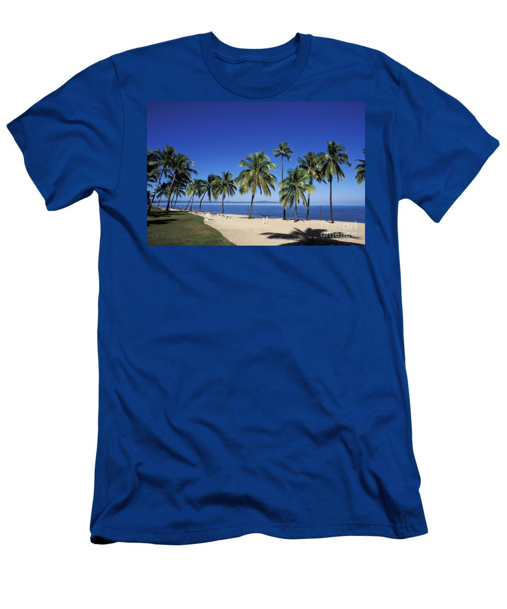 Beach Men's T-Shirt (Athletic Fit) featuring the photograph Coral Coast Palms by Bill Bachmann - Printscapes