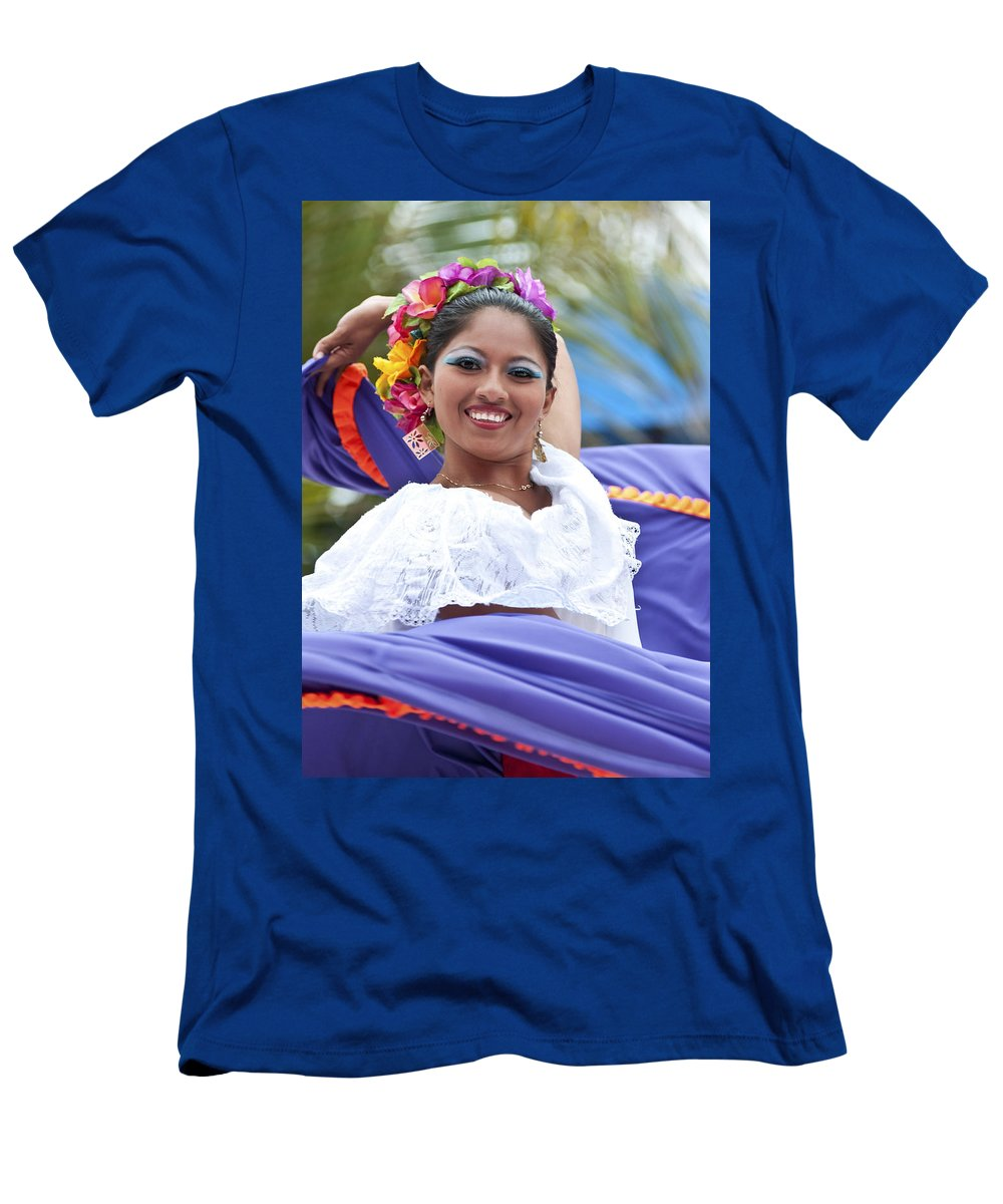Costa Maya Men's T-Shirt (Athletic Fit) featuring the photograph Costa Maya Dancer by Steven Sparks