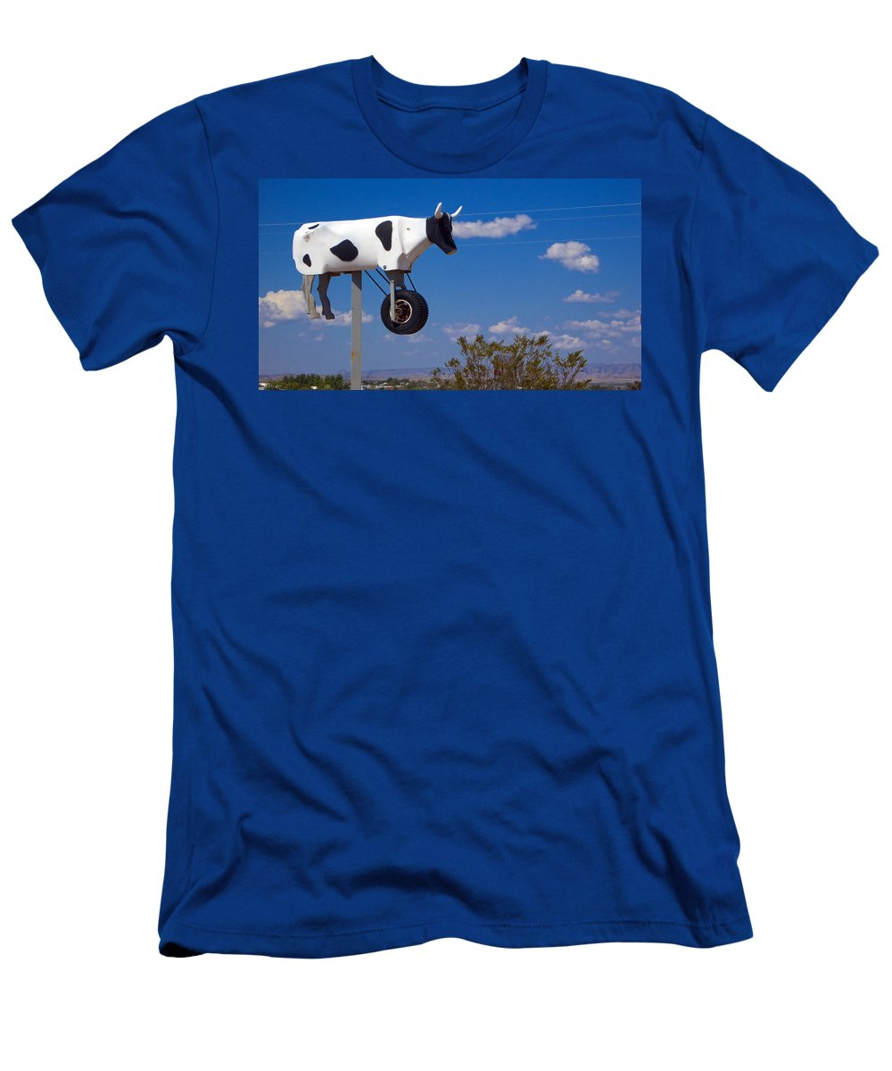 Cow Men's T-Shirt (Athletic Fit) featuring the photograph Cow Power by Skip Hunt
