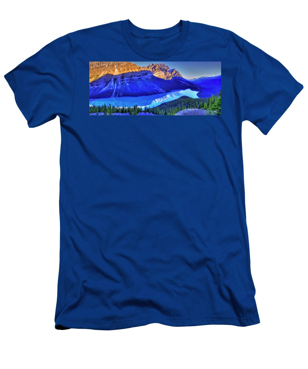 Lake Men's T-Shirt (Athletic Fit) featuring the photograph Crystal Lake by Scott Mahon