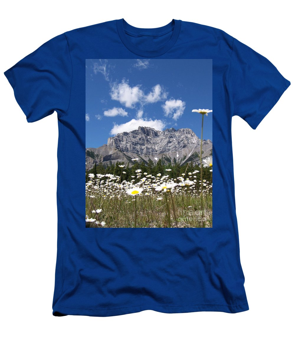 Bright Men's T-Shirt (Athletic Fit) featuring the photograph Daisy Field by Greg Hammond