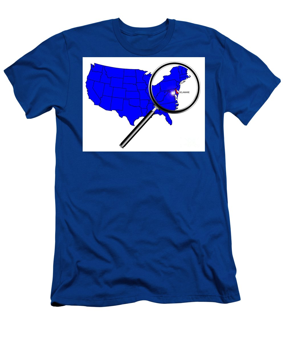 Delaware Men's T-Shirt (Athletic Fit) featuring the digital art Delaware by Bigalbaloo Stock