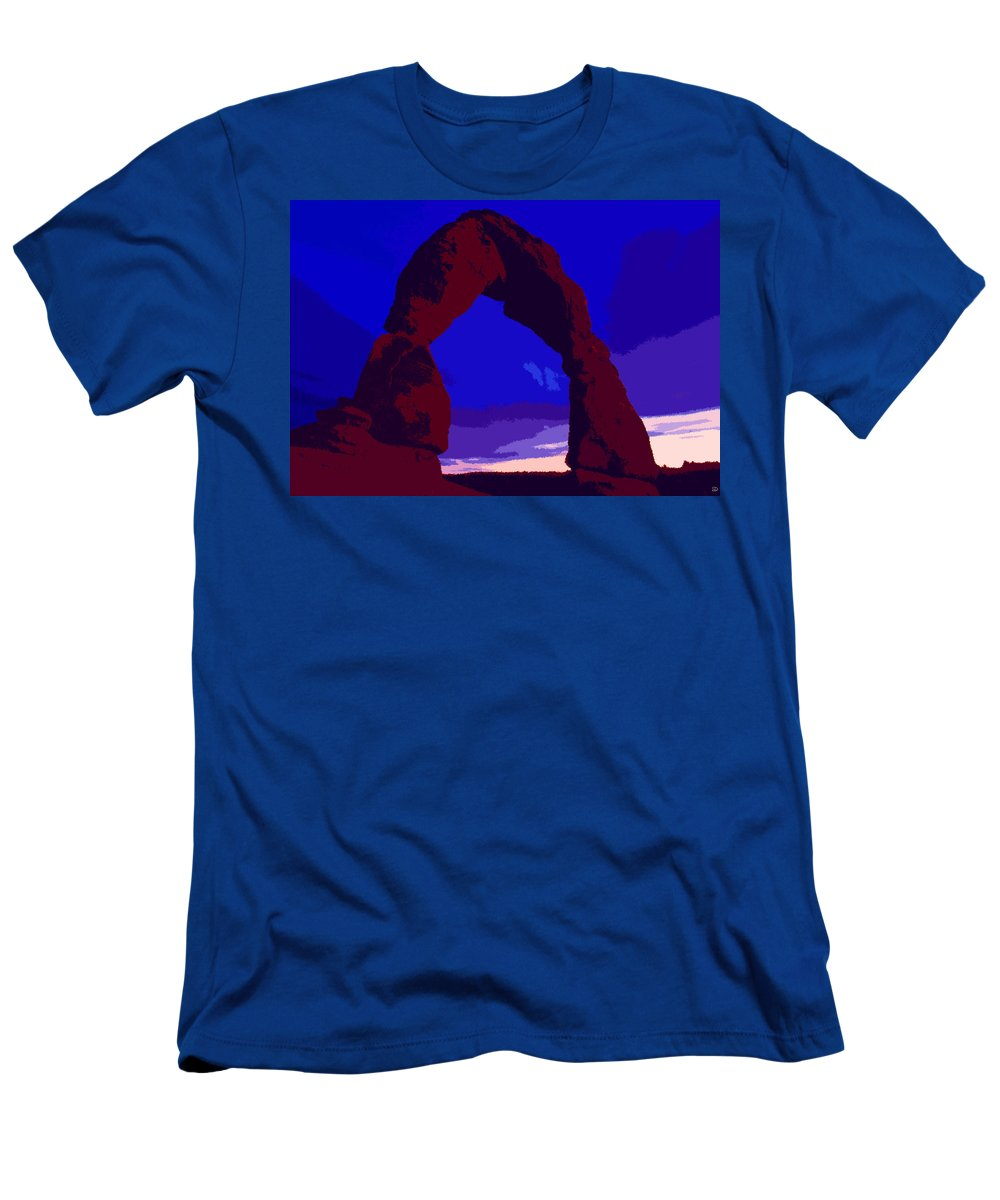 Delicate Arch Men's T-Shirt (Athletic Fit) featuring the painting Delicate Arch by David Lee Thompson