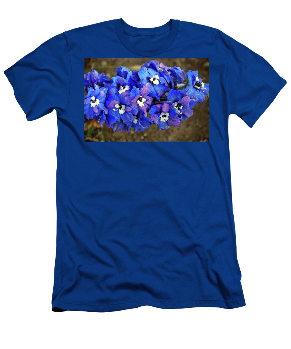 Men's T-Shirt (Athletic Fit) featuring the photograph Delphinium by Christine Dellosso