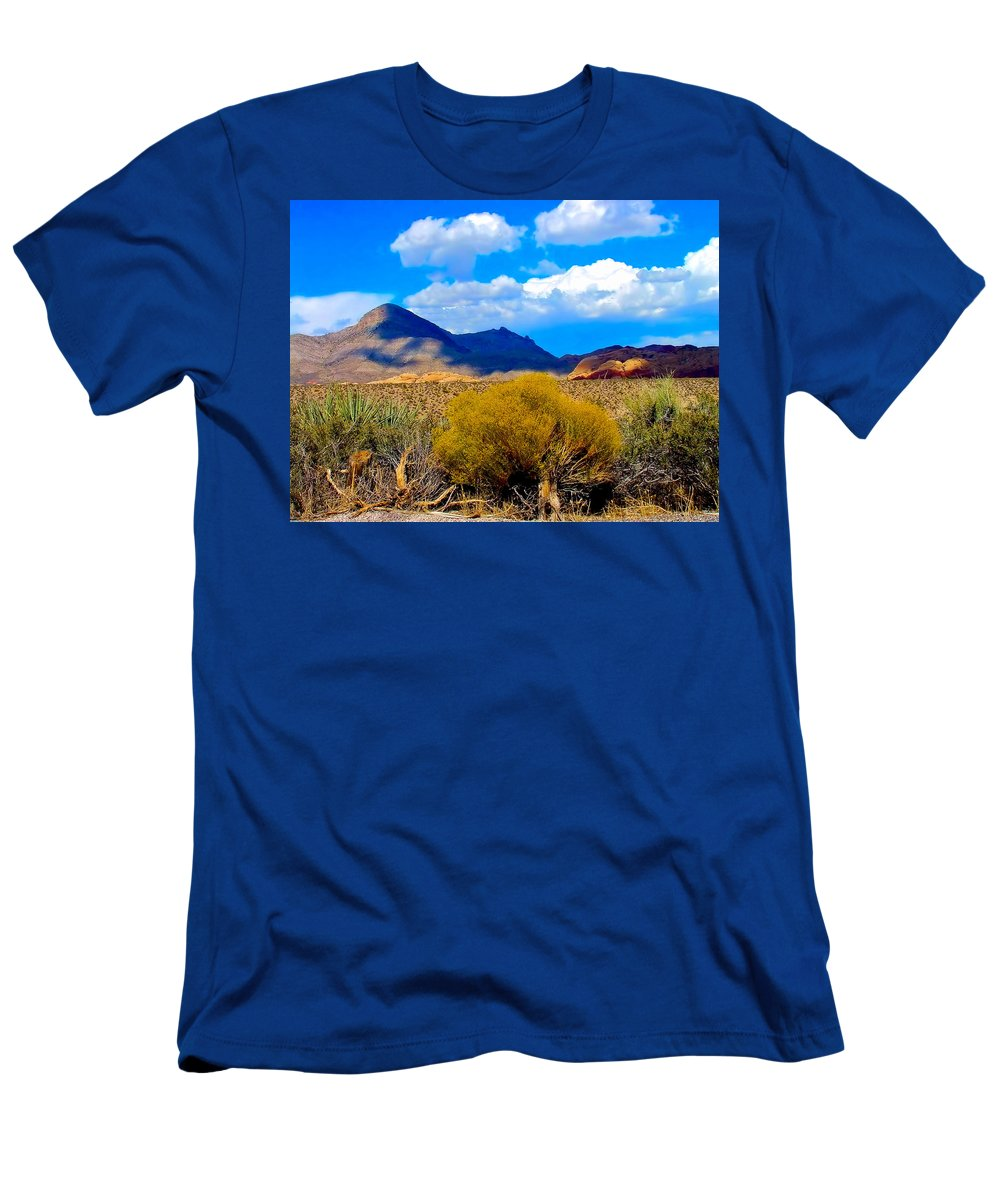 Desert Men's T-Shirt (Athletic Fit) featuring the photograph Desert View by Bob Welch