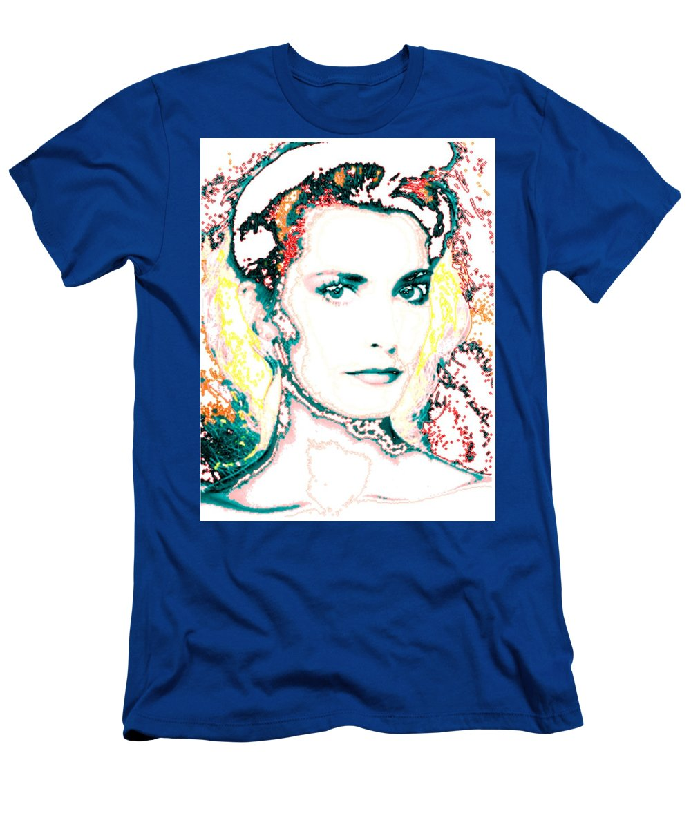 Digital Men's T-Shirt (Athletic Fit) featuring the digital art Digital Self Portrait by Kathleen Sepulveda