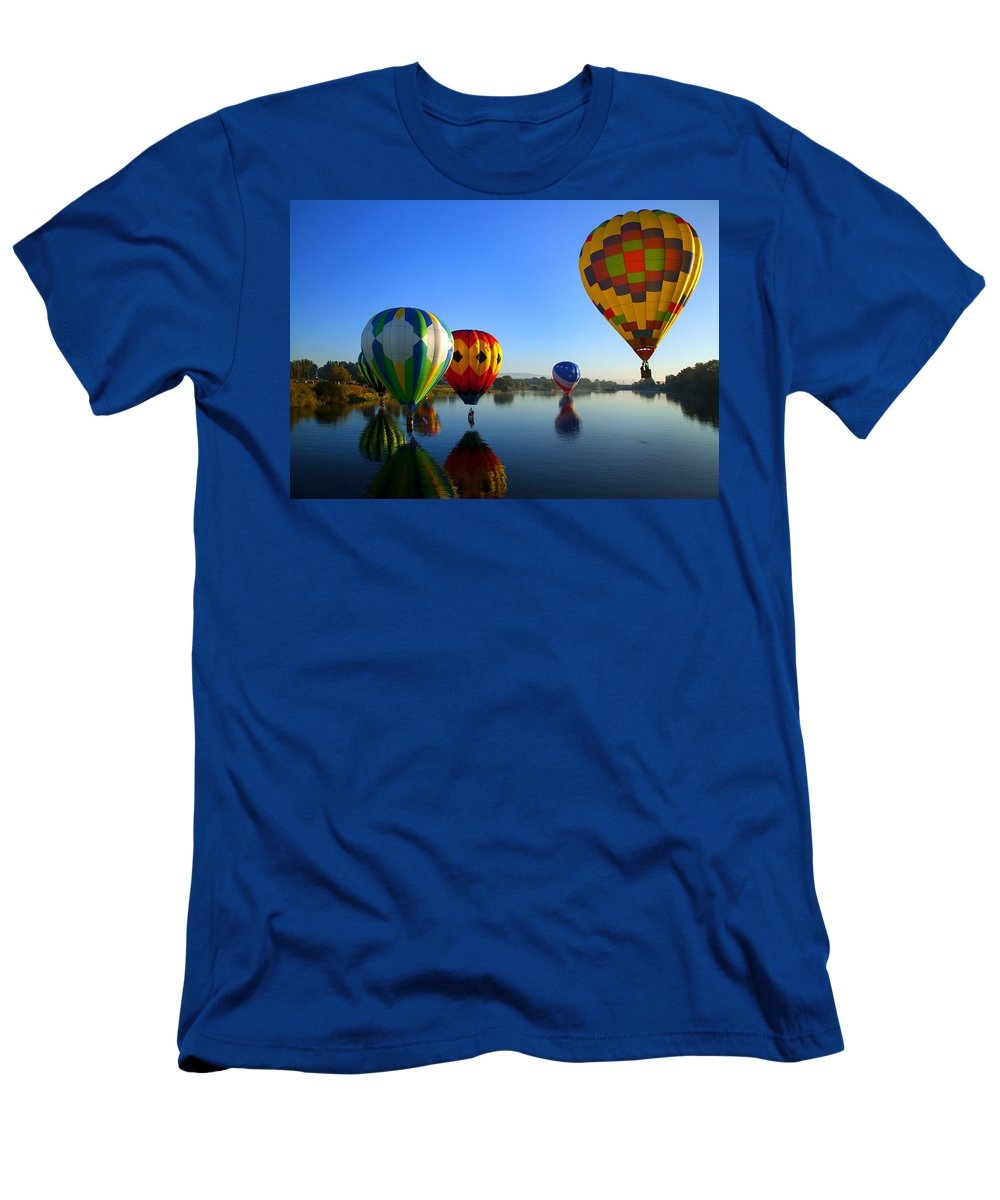 Balloon Men's T-Shirt (Athletic Fit) featuring the photograph Dip And Go by Mike Dawson