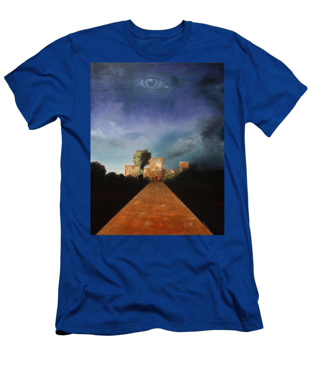 Disclosure Of The Hidden T-Shirt featuring the painting Disclosure Of The Hidden by Darko Topalski