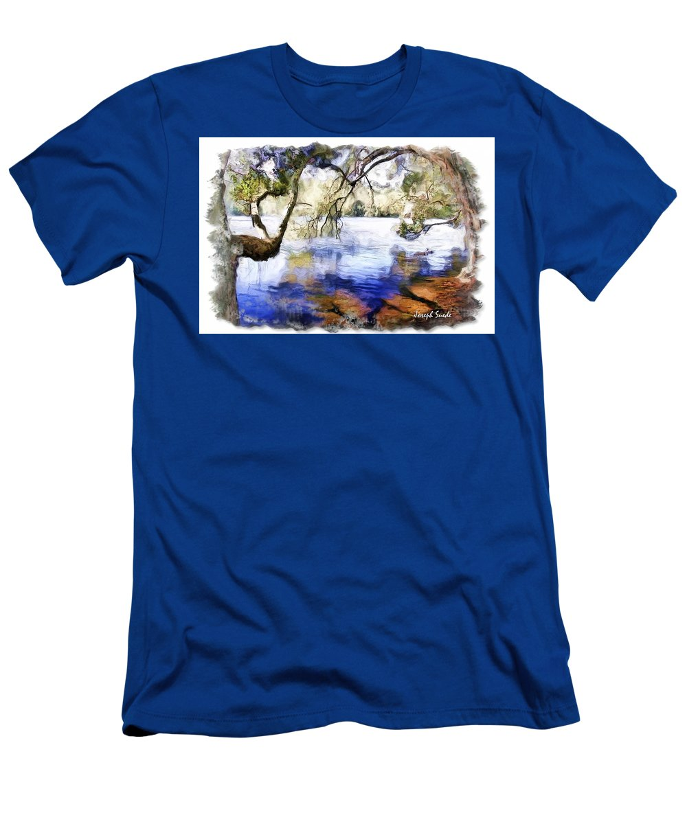 Trees Men's T-Shirt (Athletic Fit) featuring the photograph Do-00282 Cockrone Trees by Digital Oil