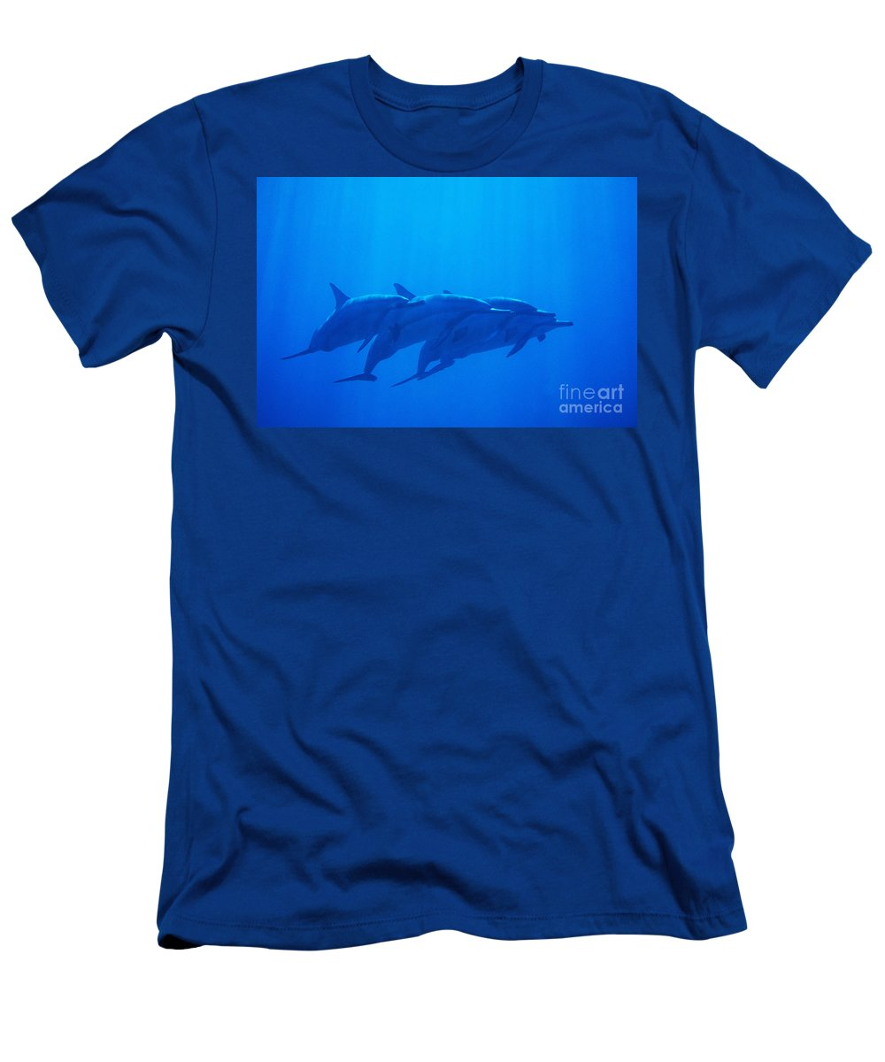 Animal Art Men's T-Shirt (Athletic Fit) featuring the photograph Dolphin Pod by Joss - Printscapes
