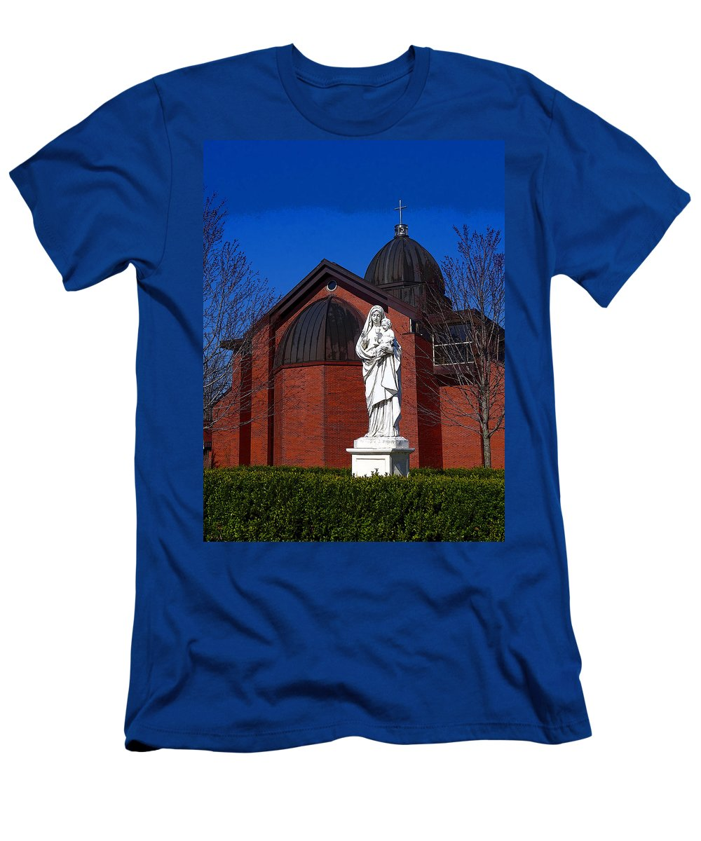 Jesus Men's T-Shirt (Athletic Fit) featuring the digital art Dominican Sisters Jesus And Mary by Joe Liba