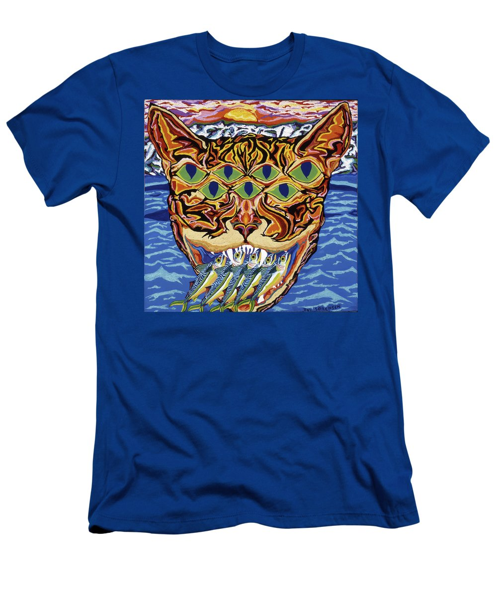 Cat Men's T-Shirt (Athletic Fit) featuring the painting Dover Cat by Robert SORENSEN