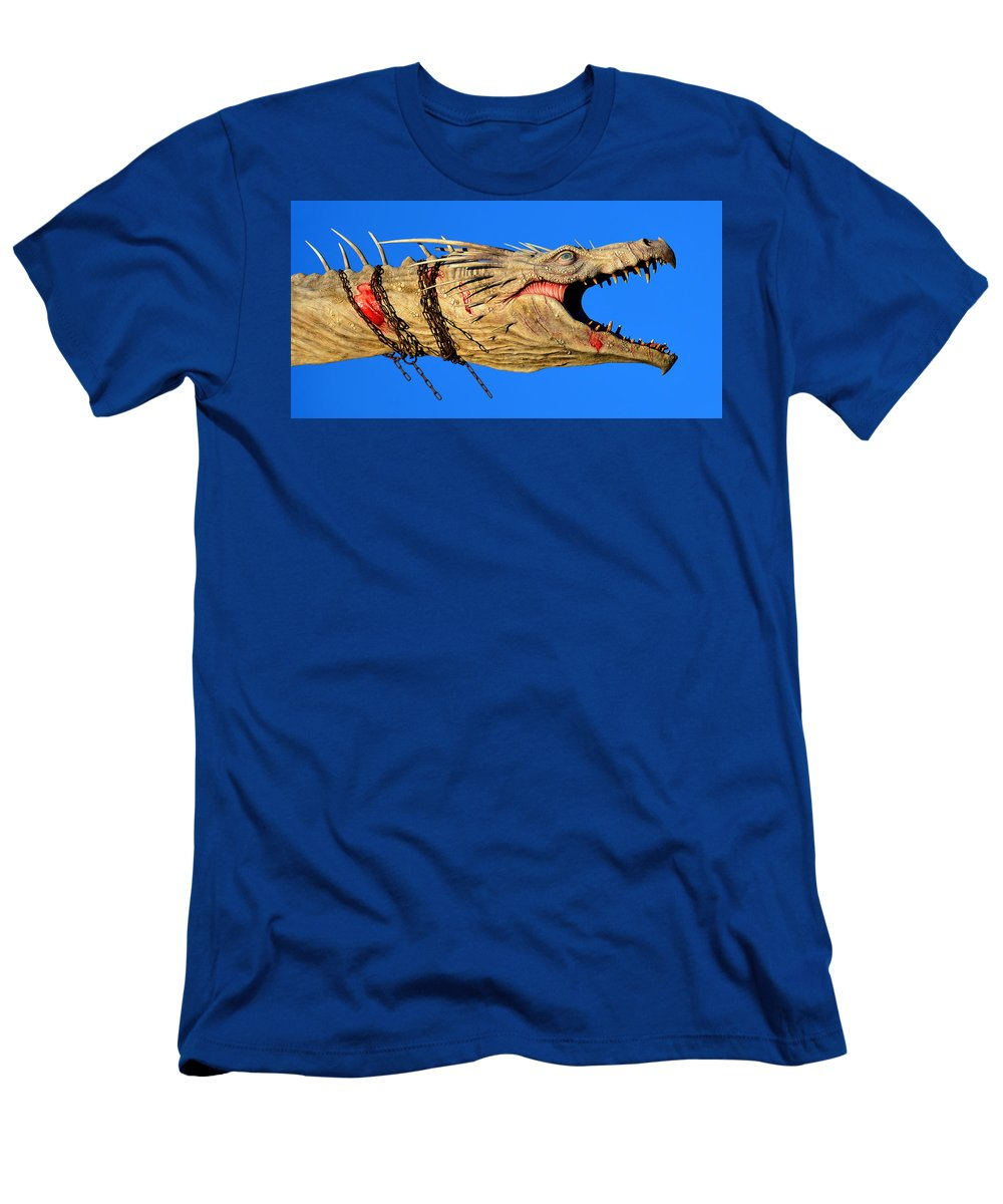 Dragon Men's T-Shirt (Athletic Fit) featuring the photograph Dragon Panoramic by David Lee Thompson