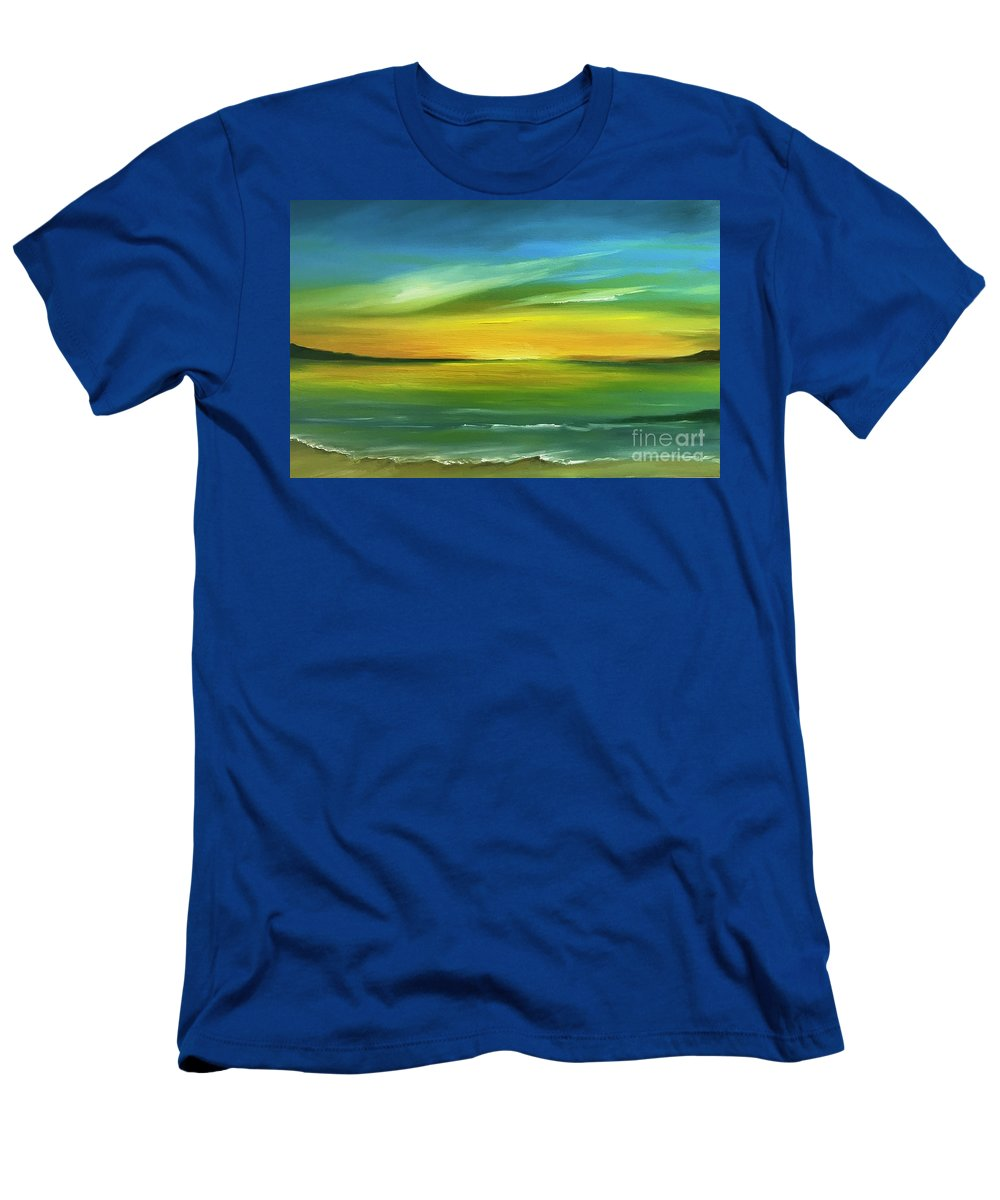 Sun Men's T-Shirt (Athletic Fit) featuring the painting Dreaming Of The Sun by Marilyn Comparetto