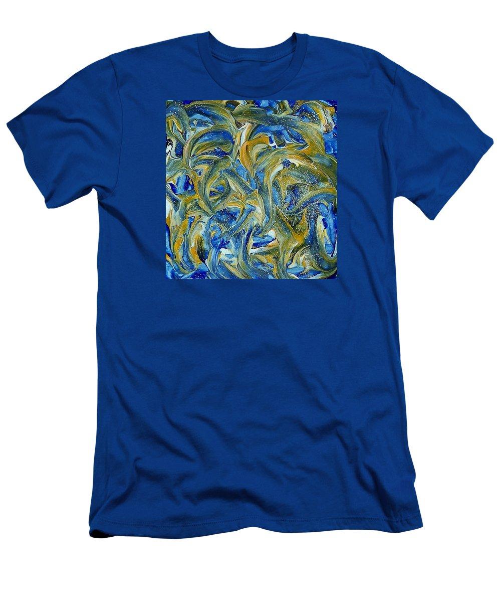 Elsie Porter Men's T-Shirt (Athletic Fit) featuring the painting Dreamweaver-b by Elsie Porter