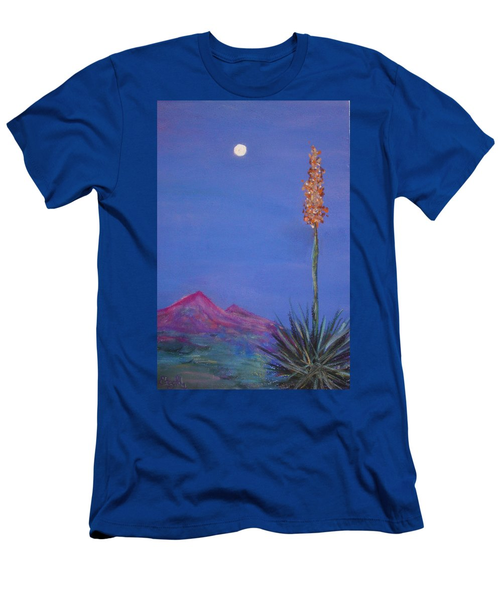 Evening Men's T-Shirt (Athletic Fit) featuring the painting Dusk by Melinda Etzold