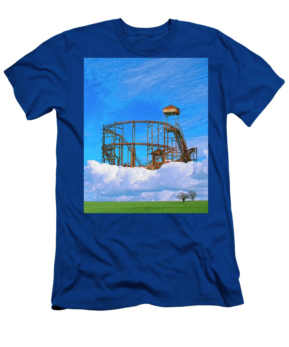 E Coupon Ride Men's T-Shirt (Athletic Fit) featuring the painting E Ticket Ride by Dominic Piperata