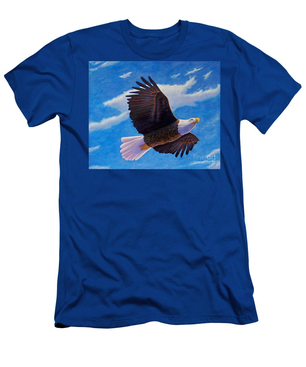 Eagle Men's T-Shirt (Athletic Fit) featuring the painting Eagle Heart II by Brian Commerford
