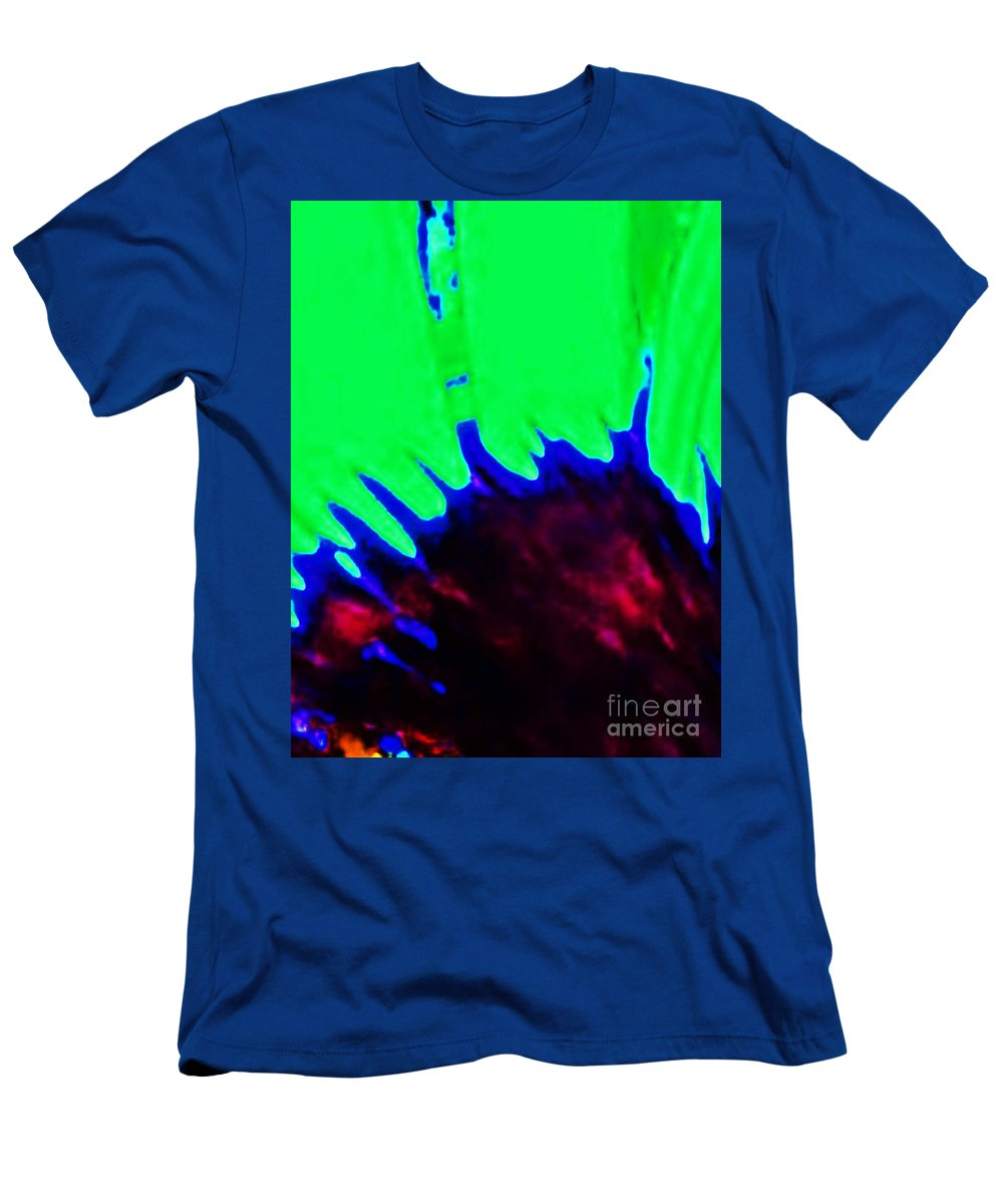 Edge Men's T-Shirt (Athletic Fit) featuring the painting Edge Of Time And Space by Eric Schiabor
