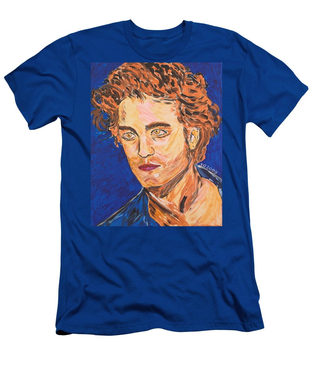 Edward Men's T-Shirt (Athletic Fit) featuring the painting Edward Cullen by Valerie Ornstein