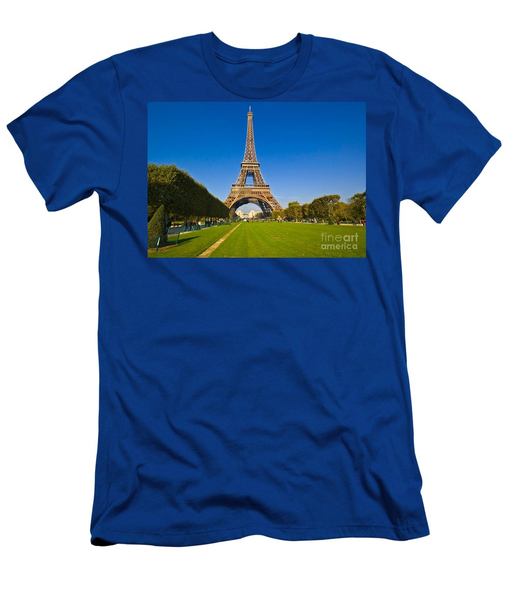 Men's T-Shirt (Athletic Fit) featuring the photograph Eiffel Tower by Charuhas Images